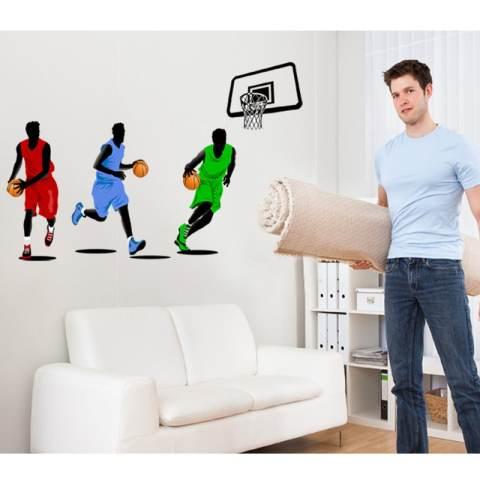 Bermain Basket Stiker Dinding Rumah Dekorasi Rumah Yang Dapat Dilepas Stiker WallPaper Kamar Dinning Kamar Dapur Ruang Tamu Gambar Seni Mural Diseduh Sendiri Tongkat Anak Bayi Perempuan Laki-laki Bermain Peralatan Memasak Di Luar Rumah Yang Lain: Dekorasi 2