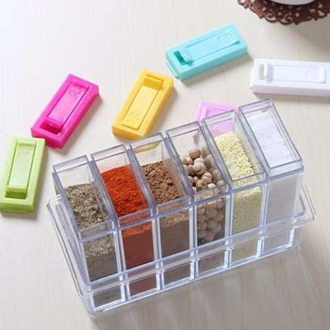 BEST 6in1 Rak Tempat Bumbu RA772 Spices Storage (6pcs + 1 Holder)