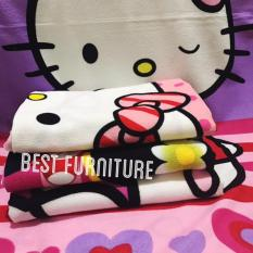 Best Handuk Mandi Anak Karakter Anak Perempuan Cantik uk 75 x 150 - Multicolor