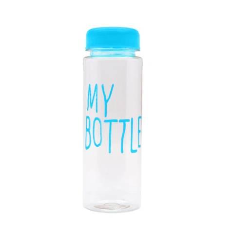 BEST My Bottle Botol Minum Transparan Termos Sport Plastic Fruit Juice - Biru