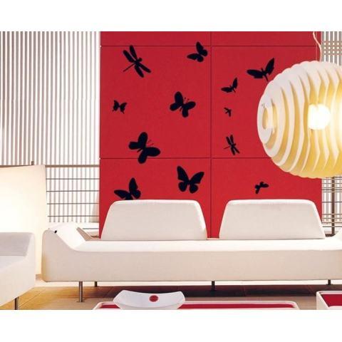 Hitam Stiker Dinding Kupu-kupu Stiker Rumah Kertas Dinding Dekorasi Dapat Dilepas Ruang Makan Tamu Kamar Tidur Dapur Gambar Seni Mural Stiker Kreasi Anak Perempuan Anak Laki-laki Anak-anak Pembibitan Ruang Bermain Bayi Dekorasi PP-AY7076-Intl 3
