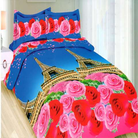 Bonita Sprei Queen 3D Motif Romantic Paris - 160x200 cm
