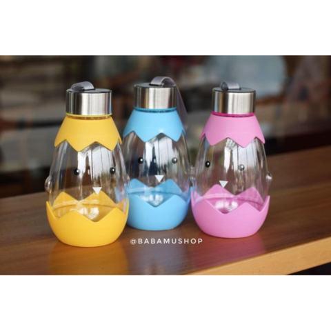 Botol Minum Air Anak Cangkang Telur- Egg Birdie Water Bottle -Babamu - Kuning