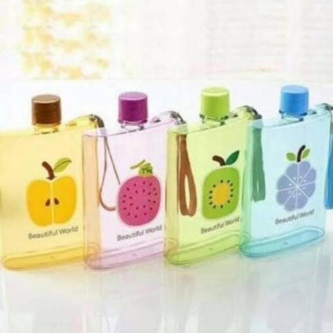 Botol Minum Air Memo bottle Buah - Memo Bottle Fruit - Babamu - Random
