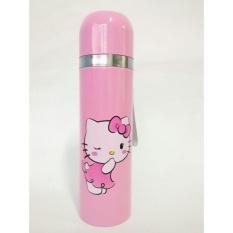 Botol Minum Termos Air Karakter Stainless Steel 500 ml New Model - Babamu - Pink