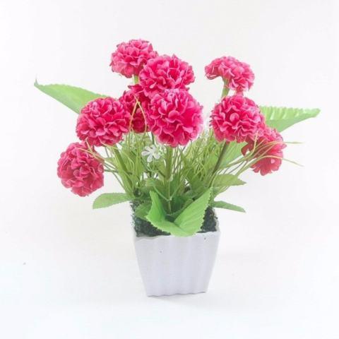 Buket Bunga Hydrangea Vas Melamin Putih Murah