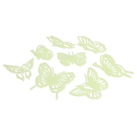 Kupu-kupu Neon Glow Dalam Gelap Plastik Rumah Menghias Dinding Stiker 2