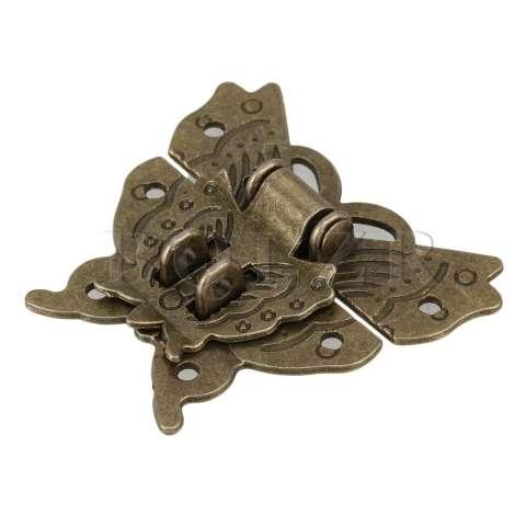 Pola Kupu-kupu Kunci Gesper untuk Antik Set Kabinet 2 (Coklat) 1