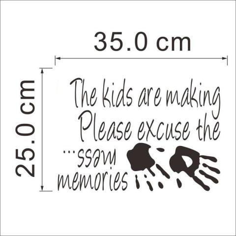 Kartun Membuat Kenangan Stiker Dinding Dekorasi Rumah Kreatif Tembok Kamar Anak-Internasional 2