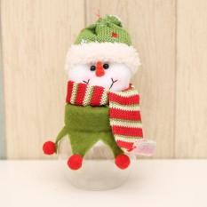 Christmas Candy Box Jar Lovely Xmas Santa Elk Snowman Gula Manis Case Decor-Intl