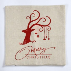 Christmas Deer Sofa Bed Home Decoration Festival Pillow Case Cushion Cover WH - intl