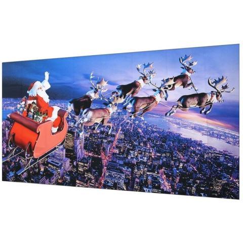 Natal Santa Claus Lukisan Dinding Wallpaper Foto Stiker Dinding Wali Kelas Dekorasi-Intl 2