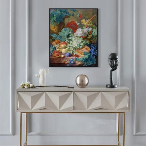 Klasik Dekorasi Seni Lukisan Cat Minyak Di Cetakan Kanvas HD Masih Hidup Lukisan Bunga Dekorasi Rumah Gambar untuk Ruang Makan Tidk 50X60 Cm-Intl 3