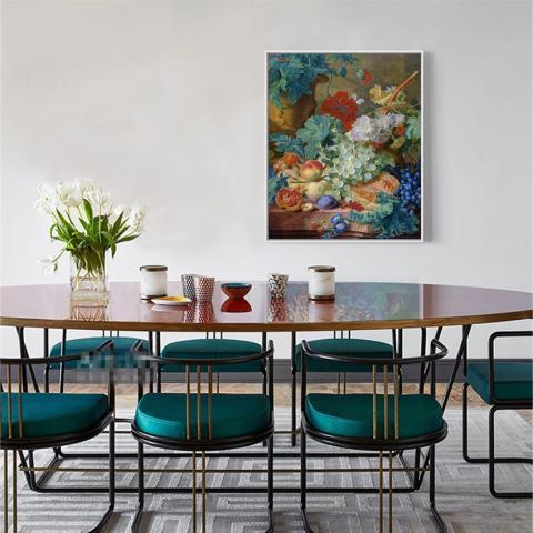 Klasik Dekorasi Seni Lukisan Cat Minyak Di Cetakan Kanvas HD Masih Hidup Lukisan Bunga Dekorasi Rumah Gambar untuk Ruang Makan Tidk 50X60 Cm-Intl 2