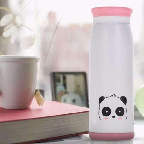 Colourful Cute Cartoon Panda Thermos Insulated Mik 500ml Botol Air Dingin Panas Animal Vacuum Flask Thumbler
