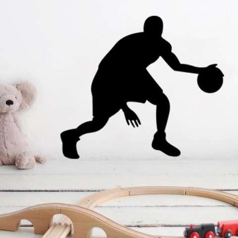 Kreatif Pemain Basket Dekorasi Rumah Ruang Keluarga Lukisan Dinding Seni Poster Kamar Tidur Hiasan Dinding Vinil Stiker-Internasional 2