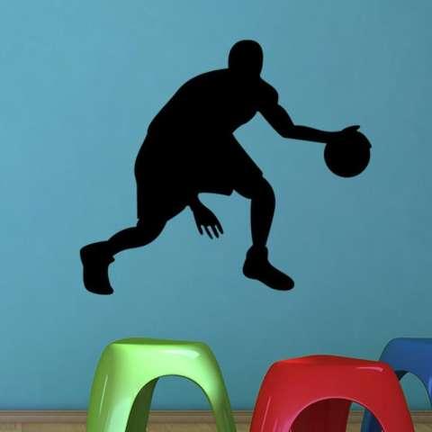 Kreatif Pemain Basket Dekorasi Rumah Ruang Keluarga Lukisan Dinding Seni Poster Kamar Tidur Hiasan Dinding Vinil Stiker-Internasional 1