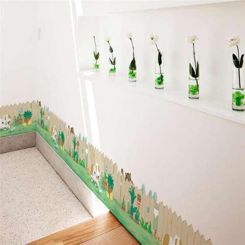 Kreatif Anak Anjing Hiasan Kaktus Bonsai Lucu Anak Kucing Dekorasi Rumah Papan Dasar Kamar Anak Poster Seni Mural Salon Kertas Dinding Ruang Tamu Stiker-Internasional 2
