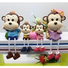 Kreatif Resin Monyet Anggur Kerajinan Perhiasan Dekorasi Ornamen Ruang Tamu Kamar Tidur Room furniture Ornamen Gantung Kaki Doll-Intl