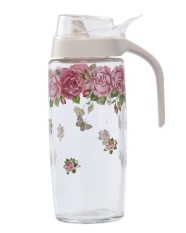 cusepra Oil Bottles Dispenser Oil and Vinegar Glass Jar Pot Dispenser Bottle Cruet,500ML
