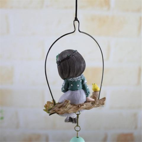 Cute Girl Wind Chimes Outdoor/Indoor Bells Hanging Garden Dekorasi-Intl 1