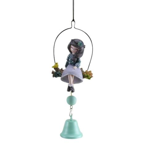 Cute Girl Wind Chimes Outdoor/Indoor Bells Hanging Garden Dekorasi-Intl 2
