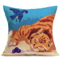 Lucu Harimau Leopard Kucing Singa Sofa Tempat Tidur Rumah Dekorasi Festival Bantal Kursi Sarung Bantal Kasus-Internasional