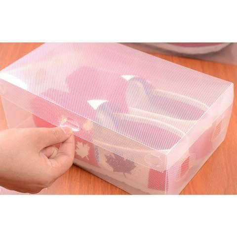 Decoku Kotak Sepatu Shoes Box Transparan Warna Warni Set isi 5 buah