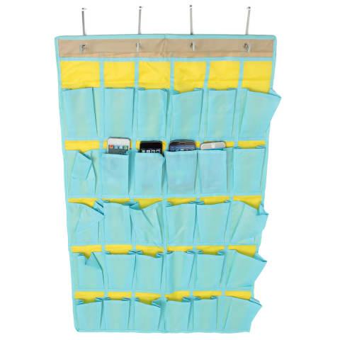 Rincian tentang 30 saku pintu rumah hiasan dinding kelas penyelenggara telepon bagasi tas - Internasional 3