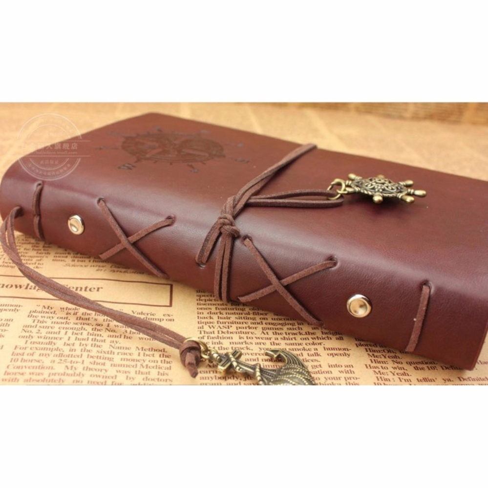 Diary Book Binder Kulit - Buku Catatan Harian Retro Pirate