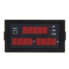 Digital Pengukur Amper pengukur tegangan volt Arus Meter Energi Listrik AC200V-450V  -Intl