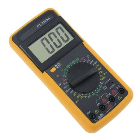 Digital DT & #45; 9205A Multimeter LCD AC/DC Pengukur Amper Perlawanan Kapasitansi