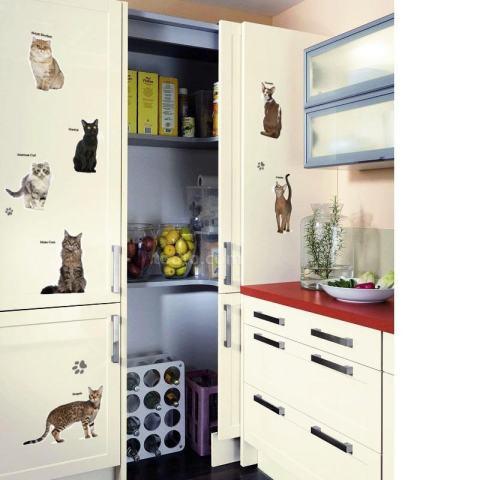 Kucing DISEDUH SENDIRI Pesta Kamar Anak-anak Hiasan Kaca Jendela Removable Wall Stiker-Intl 2