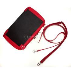 dompet wanita whpo cover rajut handmade merah
