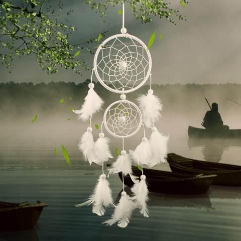 Dream Catcher Home Decor Feather Dreamcatcher Wind Chimes Maskot Mobil atau Hiasan Dinding-Intl 2