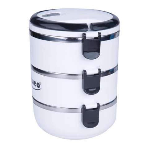 Jual Eco Lunch Box Stainless Steel Rantang 3 Susun Glossy Harga Rp 49.900