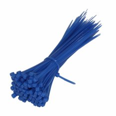 EELIC KAT-2.5X150 -BIRU 100PCS Kabel Ties 15cm Alat Ikat Yang Kuat
