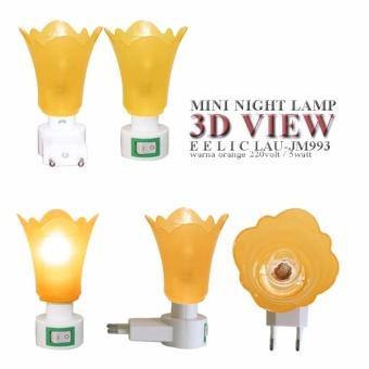 ... Promo EELIC LAU JM993 ORANGE Mini Lamp Lampu Tidur Model Bunga Cantik Malam Hari Murah