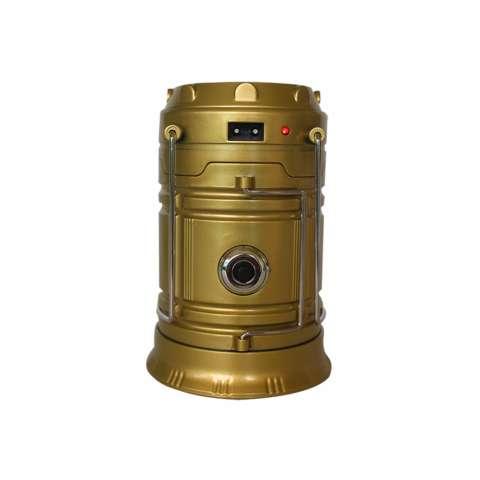 EELIC QY-5800T 1W + 6 SMD LED Warna Kuning Lampu senter / Lentera Multifungsi Tenaga Surya Anti Air Dan Praktis