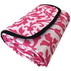 Eigia Tikar Tamasya Piknik Lipat Karpet Outdoor Perlengkapan Rekreasi Mudah Kemas Tas Bahan Nylon Fleece Fabric Waterproof Anti Air Batik - Pink