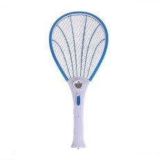 Electric Insect Mosquito Swatter Rechargeable LED Light(Blue) - intl