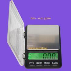 Exlusive Diamond Scale 600 - 0,01 Gram / MH-999 Spesial Timbangan Permata / Elektronic Digital Scale - Silver