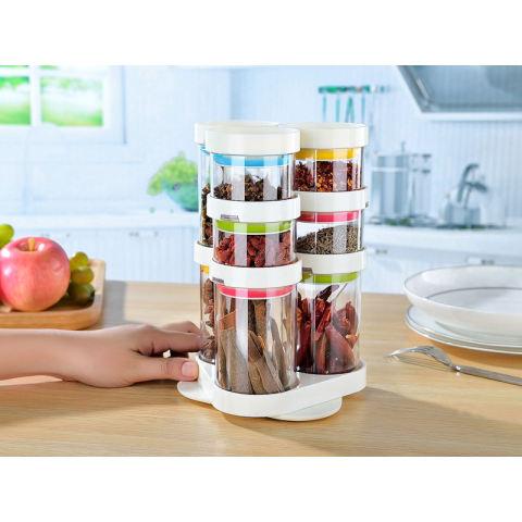 Jual Tempat Bumbu Dapur 6in1 / Rak Bumbu 6 In 1 / Seasoning Six Piec Set