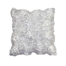 Fashion Floral Decorative Satin Throw Sofa Pillow Case Cushion Cover WH - intl