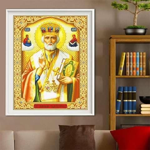 Bor penuh agama 5D Diamond diseduh sendiri lukisan kerajinan dekorasi rumah Kit - Internasional 2