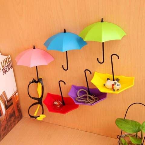 Gantungan Mini Bentuk Payung isi 3pcs - Gantungan Kunci Gantungan Aksesoris Rumah Gantungan Lucu Dan Unik Hiasan Dinding Bentuk Payung Gantungan Serbaguna Miniatur Payung - Warna Random 2