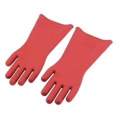 GOOD Insulated 12Kv High Voltage Electrical Insulating Gloves For Electricians - intl