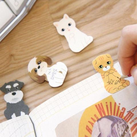 Baik Indah Karton Rumah Kucing Ini Kertas Tempel Penanda Halaman Mini Sticky Notes Perlengkapan Sekolah Kuning-Intl 1