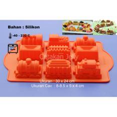 Griya Cetakan Kue Puding Jelly Bolu Train 3D Silikon Warna Random