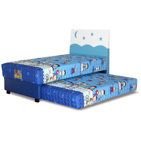 Guhdo Happy Kid 2in1 120 x 200 Hb Starmoon Biru - Full set - Khusus Jabodetabek